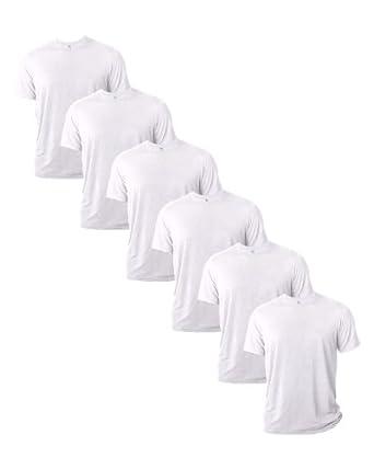 Gildan Mens Core Performance T-Shirt, White, X-LARGE. ( Pack6 ) by Gildan