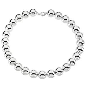 Sterling Silver 16mm Bead Necklace or Bracelet: 8 Inch