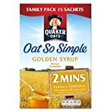 Quaker Oats Oat So Simple Golden Syrup Porridge 15 X 36G