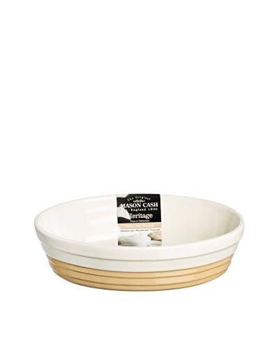 Mason Cash Heritage Oval Serving Dish, White/Beige