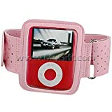 Pink Color Apple iPod nano 3G (3rd Generation) 4GB/ 8GB Adjustable Armband Carrying Case