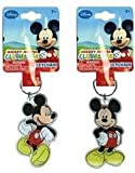 DDI - Disney Mickey Mouse Lucite Shaped Key Chain (1 pack of 36 items)