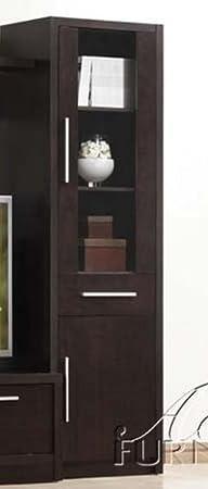 Media Cabinet with Glass Door in Espresso Finish