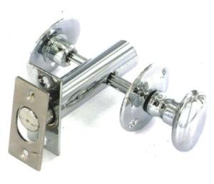 Ironmongery World Chrome W / C Toilet Bathroom Lock Door Lock Bolt Thumb Turn + Emergency Release