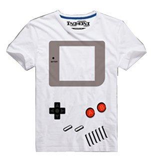 GAMEBOY風デザインTシャツ  ゲームボーイ 携帯ゲーム機 レトロゲーム (Mサイズ) [並行輸入品]
