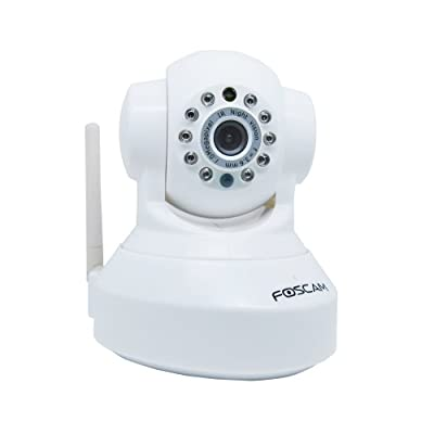 Foscam FI9818W - Network camera - pan / tilt - colour ( Day&Night ) - fixed focal - audio - wireless - 10/100,...