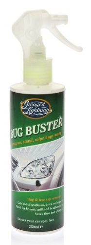 Greased Lightning Bug Buster 250ml Bug & Tree Sap Remover Spray & Wipe