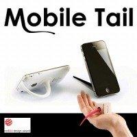 週間アスキー掲載! モバイルテール モバイル機器専用スタンド Mobile Tail スマートフォン・携帯電話用に! (白)