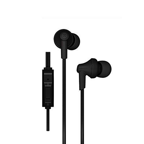 GranVela In-Ear Headphones Phrodi POD-616P Enhanced Bass In-Ear Headphone with Microphone for iPhone 6, 6 Plus, 5S, 5C, 5, 4S, 4 / iPad 4, 3, 2,1, Mini, Air (Retina Display models) / iPod Touch, Nano, Shuffle, Classic / Samsung Galaxy S5, S4,S3, Note 4, Note 3, Note 2 / Other Android Smartphones - Motorola, Google Nexus, HTC, Sony, Nokia / Tablets & MP3,MP4 Players (3 Different Size Ear Inserts / Retail Packaging),Uses 3.5mm jack --Black --Black