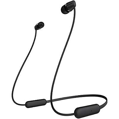 ソニー Sony ワイヤレスイヤホン Wi-c200 : Bluetooth対応最大15時間連続再生マイク付き 2019年モデル ブラック Wi-c200 Bc