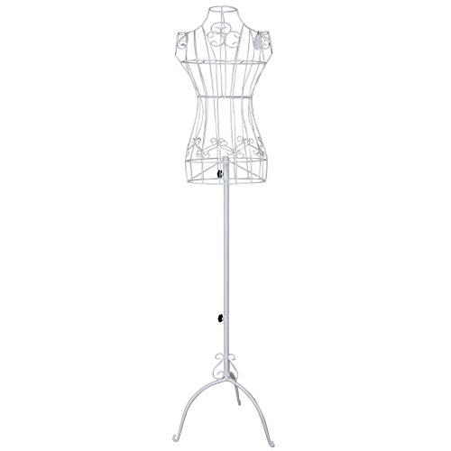 Songmics-Dnn-Weiblich-Schneiderpuppe-170-cm-Schaufensterpuppe-Damenbste-Schneiderbste-aus-Metall-Schwarz-HRA10B