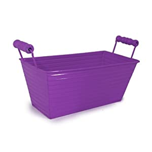 Ribbed Metal Tray Basket - Purple
