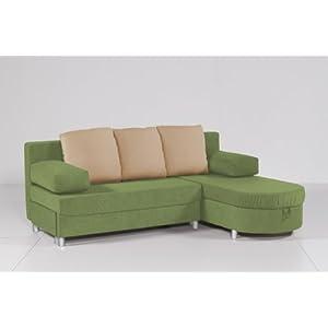 g nstig ecksofa funktionssofa pia kiwigr n creme mit. Black Bedroom Furniture Sets. Home Design Ideas