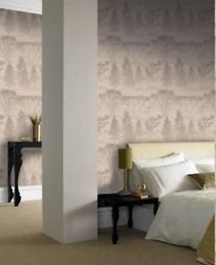 Graham and Brown Mirage Wallpaper - Latte by New A-Brend