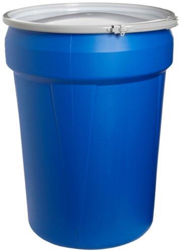 eagle-1601mb-blue-high-density-polyethylene-lab-pack-drum-with-metal-lever-lock-lid-30-gallon-capaci