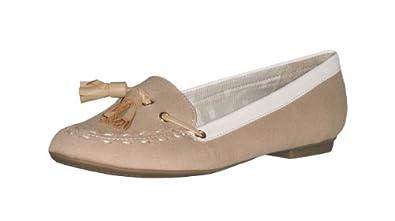 Tommy Hilfiger Women Fashion Poppy Flats Shoes (8M, Beige)