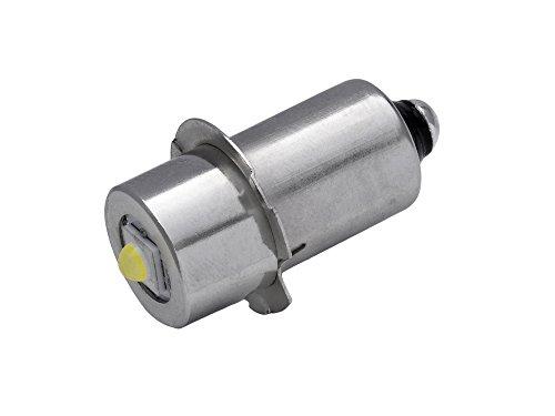 TorchLED13-Energiesparende-1-Watt-LED-Ersatzbirne-fr-Taschenlampen-Sockel-P135s-1-9-Volt
