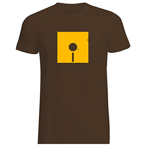 5-1-4-floppy-disk-t-shirt-various-colours-and-sizes-large-chocolate-brown-t-shirt-with-yellow-print
