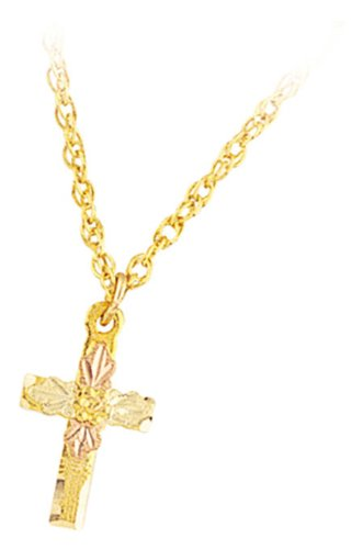 Mt. Rushmore Black Hills Gold® 10K Cross Pendant Necklace