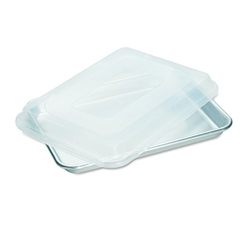 Nordic Ware Natural Aluminum Commercial Baker's Quarter Sheet with Lid (Nordic Ware Cake Pan With Lid compare prices)