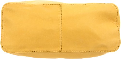 Linea Pelle Women's Dylan Shoulder Bag, Sand/Saffron