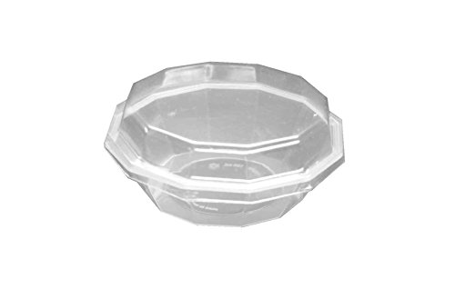 Choice-Pac 3D-1579 Polypropylene Octagon Dessert Plate With Clear Lid, 6-Ounce (Case Of 300)
