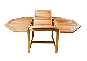 Table allonge octogonale table en teck table de jardin cuisine maison - Amazon table de jardin ...