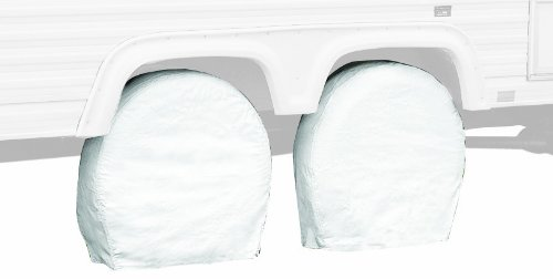 "Classic Accessories 76270 Snow White RV Wheel Covers, Fits wheel diameter 40"" - 42"" (bus size)"