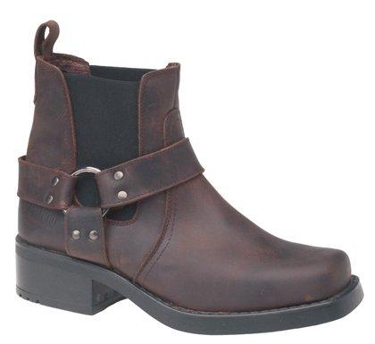 Gringos M486B Mens Chelsea Boots In Dark Brown . (UK 10)