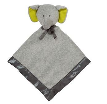 Plush Baby Toy Security Blanket Snuggle Buddy Lovie Rattle Elephant By Carter'S front-142106