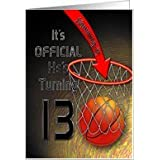 13th Birthday Party Invitations BASKET BALL  NET TEEN BOY Card