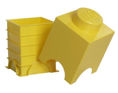 Lego Storage Brick 1 Yellow