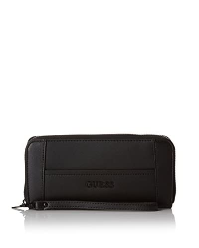 Guess Portafoglio Delaney Slg Large Zip Around [Nero]