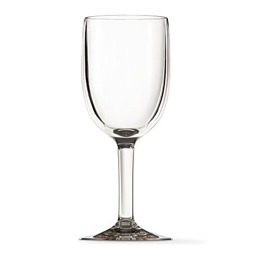 Premium quality thick walled plastic 12oz wine glass set of 4 new ebay - Wine glasses with thick stems ...