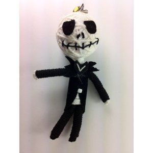 Jack Skellington Voodoo String Doll Keychain NEW - 1