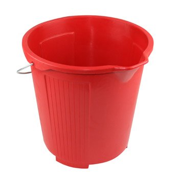 Kent Car Care 10 Litre RED Plastic Bucket - 9 Lt (2 gallons) Clean Wash - G606