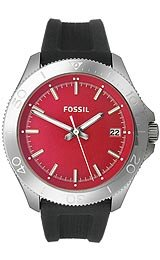 Fossil Retro Traveler Three-Hand Black Silicone Men's watch #AM4445