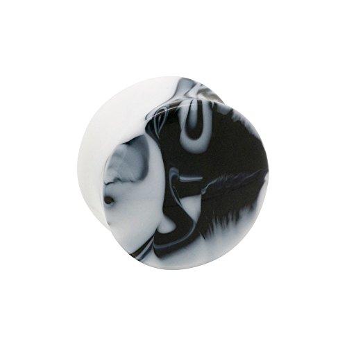 Piercing Plug Per Orecchio Marble Blue Banana Body Piercing (Nero) - 12mm (Calibro/Spessore)