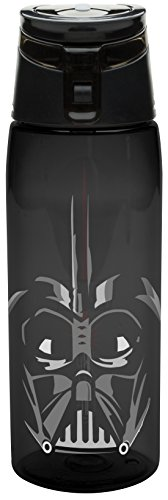 Zak! Designs Tritan Water Bottle with Flip-top Cap with Darth Vader from Star Wars, Break-resistant and BPA-Free Plastic, 25 oz. (Drink Ware Made Of Plastic compare prices)