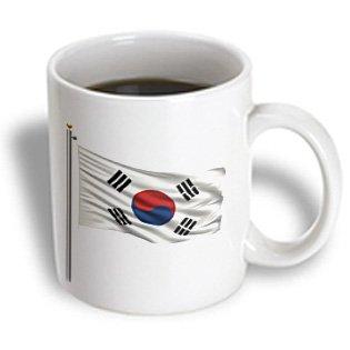 Carsten Reisinger Illustrations - Flag Of South Korea On A Flag Pole Over White Korean - 15Oz Mug (Mug_157194_2)