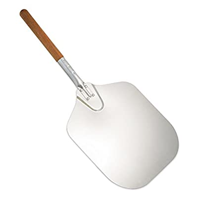 "TrueCraftware Reinforced Aluminium Pizza Peel with Wooden Handle 12"" x 14"" Inches"
