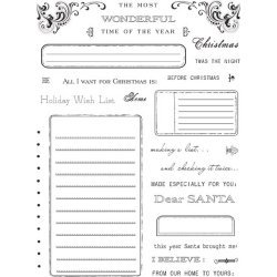 Holiday Wish List Clear Unmounted Rubber Stamp Set (LE7796)