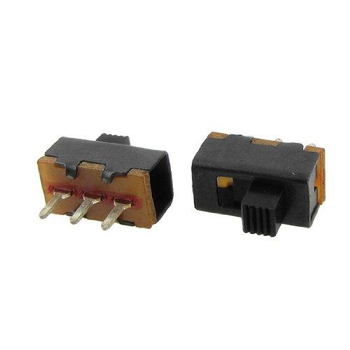 Uxcell a12013100ux0111 High Knob 2 Position 1P2T SPDT Vertical Slide Switch, 0.5 Amp, 50V DC, 50 Piece, 3 mm (Spdt Slide Switch compare prices)