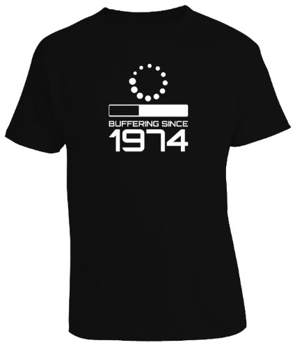VIDEO BUFFERING SINCE YEAR 1974 - 40th Birthday Gift / Present Mens T-Shirt