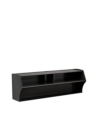 Prepac Altus Wall-Mounted AV Console, Black