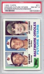 1982 Cal Ripken Jr. Topps Baseball MLB Rookie Cards - Professionally Graded a PSA 8 (Baltimore Orioles)