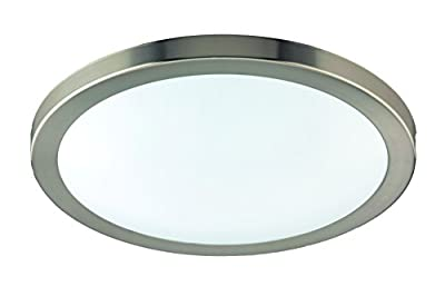 Eco Light LED Bathroom Light Ceiling Light, Aluminium, 1380 lm 18 Watt Diameter 35 cm, IP44, with Silver 8020 35