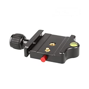 """SIRUI MP-20 Schnellwechselbasis (Alu,  1/4"""" und 3/8"""", 78x56mm, 78g, für SIRUI und Arca-Swiss-Platten) schwarz"""