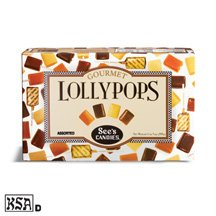 See's Candies 1 lb. 5 oz. Assorted Lollypops-All 4 flavors