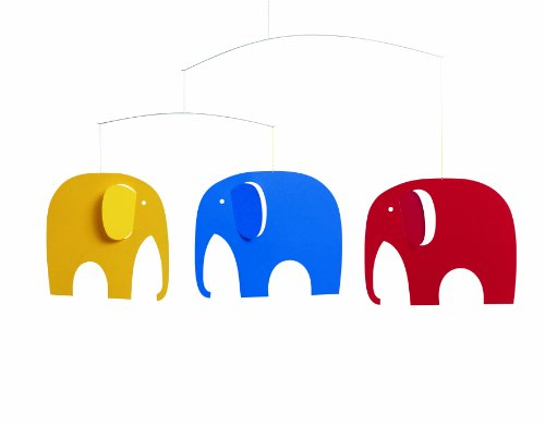 Flensted Mobiles Nursery Mobiles, Elephant Party